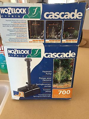 Hozelock Cyprio Cascade 700 pump Water Feature Pond Waterfall NEW