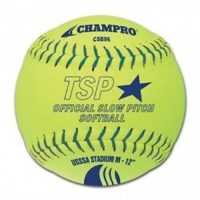 Champro Stadium Leather USSSA Slow Pitch (Optic Yellow, 30.5cm ). Delivery is Fr