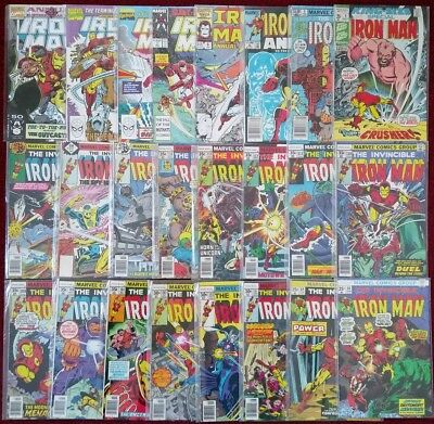 IRON MAN Bronze Age Set 24 Issue 68 - 119 with Annuals & King Size Special
