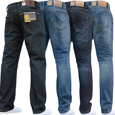 Sale New Mens Designer Branded Blue Jeans Trousers Straight Waist & Sizes