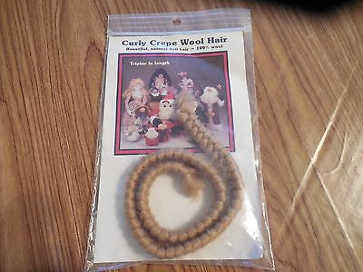 All Cooped Up Light Brown Curly Crepe Wool Doll Hair