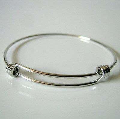 Adjustable Bangle Silver Tone Copper Triple Loops-Jewelry Making Supplies-Bangle