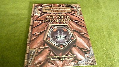 Dungeons & Dragons Forgotten Realms Monsters Of Faerun Compendium