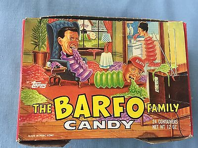 Vintage 1989 Topps Barfo Family Candy Dispensers Full Display Box of 24 TCG
