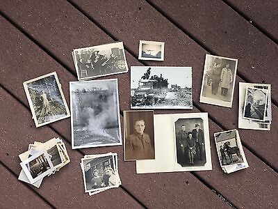 Lot of VTG WW2 WWII Photos c. 1940's - Planes, Aircraft, and Soldiers (L4-G4)