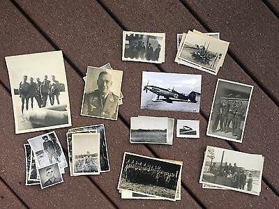 Lot of VTG WW2 WWII Photos c. 1940's - Planes, Aircraft, and Soldiers (L4-G5) • $24.50