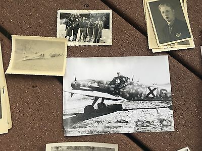 Lot of VTG WW2 WWII Photos c. 1940's - Planes, Aircraft, and Soldiers  (L4-G6) • $13.28
