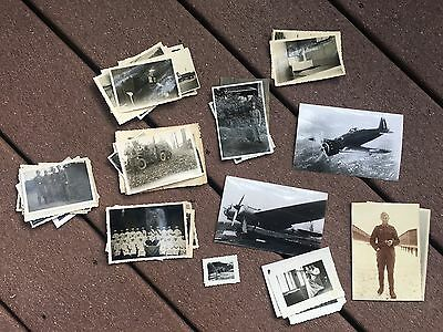 Lot of VTG WW2 WWII Photos c. 1940's - Planes, Aircraft, and Soldiers  (L4-G7)