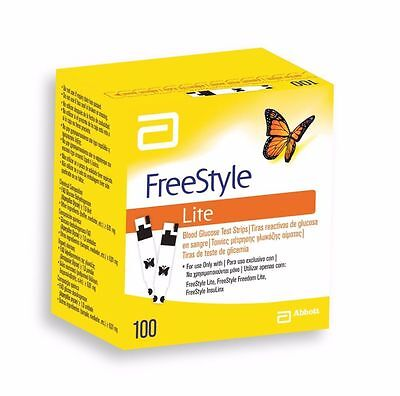 ABBOTT FREESTYLE LITE TEST(100 Strips) *New Stock*