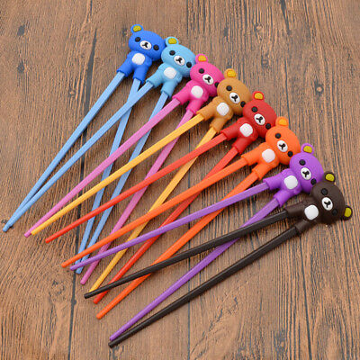 Rubber Loverly Bear Children  Beginner Training Helper Chopsticks Kids Love Gift
