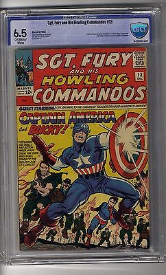 Sgt Fury and His Howling Commandos # 13 CBCS 6.5 OW/White Pages
