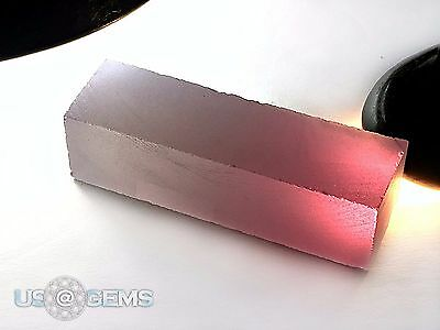 Color change Pink-White #1401. Rough 90 gr. SIAMITE. Created Gemstone. US@GEMS