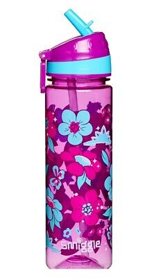 """SMIGGLE Kids Girl's Straight Drink Bottle """"Out of This World"""" - Flowers"""
