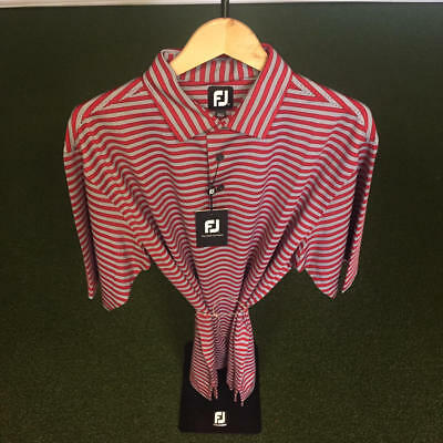 NWT Men's FootJoy Lisle Multi Stripe Self Collar Shirt XL *Discontinued*