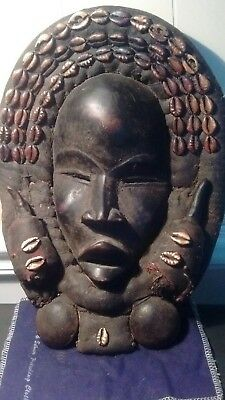 """Antique African """"Dan Tribe""""Tribal Mask Originally from The Ivory Coast,great pat"""
