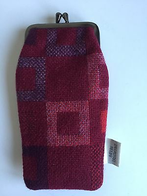 New Red Melin Tregwynt Spectacle Glasses Case / Purse– Woven In Wales