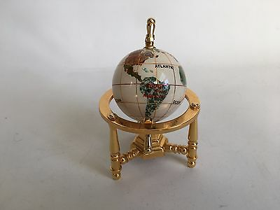 Miniature GLOBE on Brass Stand