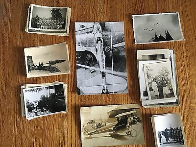 Lot of VTG WW2 WWII Photos c. 1940's - Planes, Aircraft, and Soldiers (L6-G5)