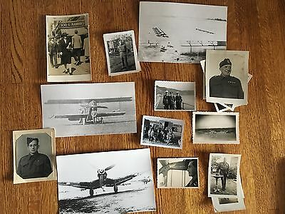 Lot of VTG WW2 WWII Photos c. 1940's & 1930's- Planes and Soldiers (L6-G7)