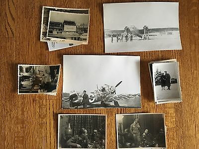 Lot of VTG WW2 WWII Photos c. 1940's - Planes, Aircraft, and Soldiers (L7-G2)