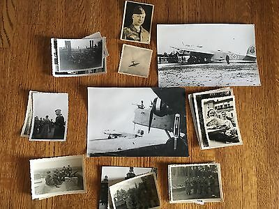 Lot of VTG WW2 WWII Photos c. 1940's - Planes, Aircraft, and Soldiers (L7-G3)