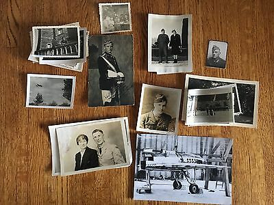Lot of VTG WW2 WWII Photos c. 1940's - Planes, Aircraft, and Soldiers (L7-G5)