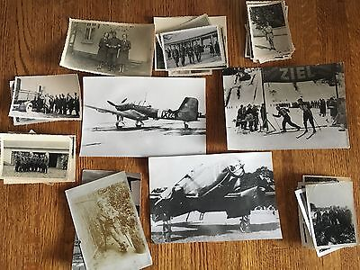 Lot of VTG WW2 WWII Photos c. 1940's - Planes, Aircraft, and Soldiers (L7-G10)