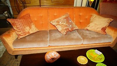 Vintage Designer Apohlstered Sofa And Chair Set