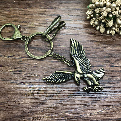 New 1pcs Creative eagle Key Chain Metal Keychain Gift Tool Pendant Bronze Color