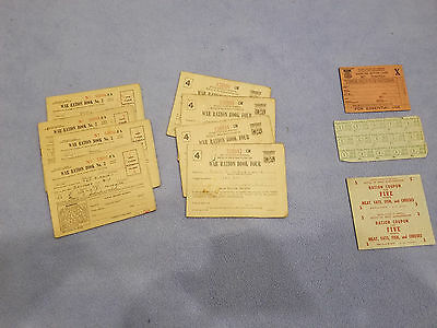 Vintage WW2 War Ration Book Three and Book Four for Family of Four 1940s