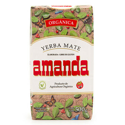 Amanda Yerba Mate Traditional Tea 500g - Certified Organic - Made in Argentina