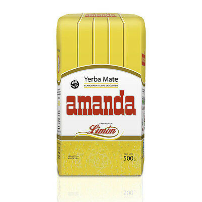 Amanda Traditional Yerba Mate Tea Lemon Flavour 500g - Produced in Argentina