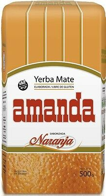 Amanda Yerba Mate Traditional Tea Orange Flavour 500g - Produced in Argentina