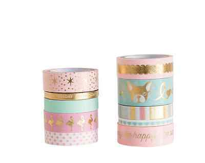 Recollections Washi Tape Tube, Uptown Chic Pink Dog 10 rolls washi tape, planner