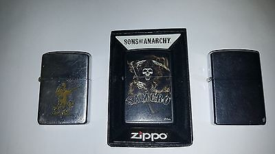 lot of Vintage Engraved  and New S.O.A. Zippo Lighters