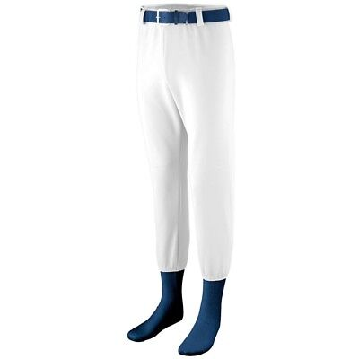 (Large, White) - Augusta Sportswear BOYS' PULL-UP PRO BASEBALL PANT. Free Delive