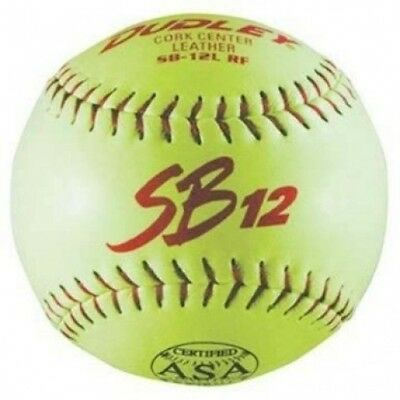 30.5cm SB12 Leather Softballs from Dudley - 1 Dozen. Shipping is Free