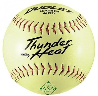 (1) - Spalding Sports Div Russell 4A-065YP Dudley Softball, Slow Pitch, Yellow L
