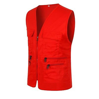 (US L/Asian 2XL, Red) - Men's Photo Journalist's Cycling Outdoor Multifunction P