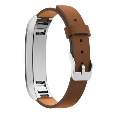 (Brown) - For Fitbit Alta Band , LUNIWEI Replacement Genuine Leather Band Strap