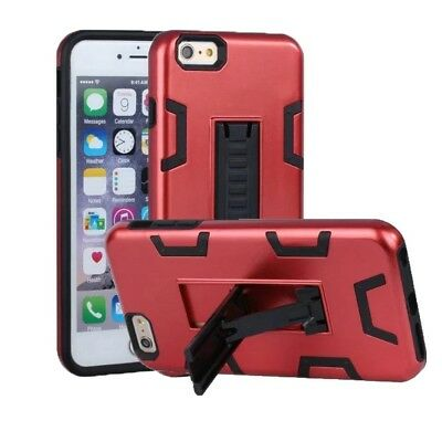 (Red+Black) - iPhone 6 Case, iPhone 6S Case, VPR 2 In 1 Hybrid Dual Layer Plasti