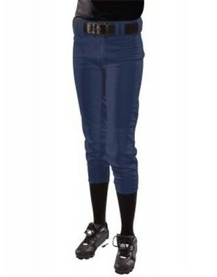 (Medium, Navy) - Girls' Low Rise Polyester Pant. Free Delivery