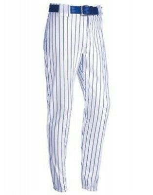 (X-Small, White/Royal Blue) - Youth Pinstripe 410ml Polyester Pant. Delivery is