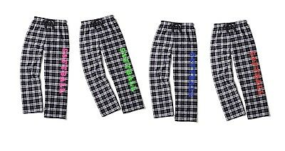 (Youth Small (6/8), Neon Pink) - Softball Black and White Chequered Flannel Loun