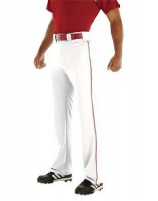 (Large, White/scarlet) - Youth Relay 500ml Piped Pant. Delivery is Free