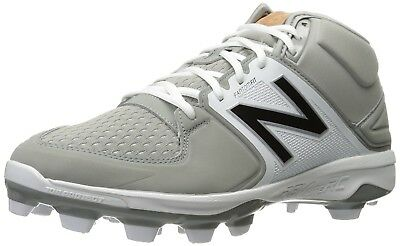 (9.5 2E US, Grey/White) - New Balance Men's PM3000V3 Baseball Shoes. Free Shippi