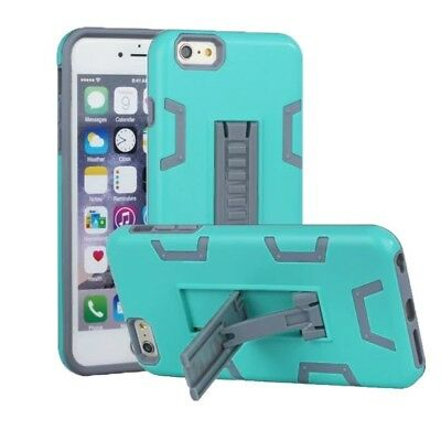(Mint+Grey) - iPhone 6 Case, iPhone 6S Case, VPR 2 In 1 Hybrid Dual Layer Plasti
