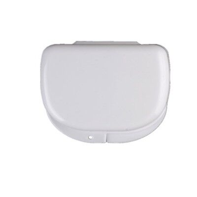 Ikakon Denture Box Storage Case Rinsing Basket Container Mouthguard(White).