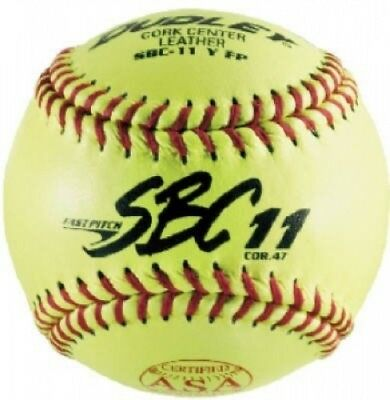 (1) - Spalding Sports Div Russell 4Y-611P 28cm Dudley Fast-Pitch Yellow Softball