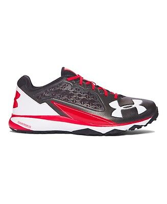 (11 2E US, Black/Red) - Under Armour Men's Deception Baseball Training Shoes –